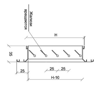 схема решітки РВ 2535-1