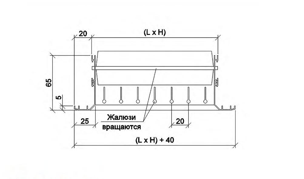схема решітки двохрядної РВ 2565-2