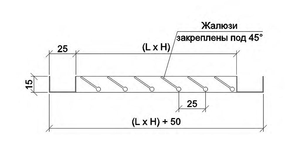 Схема накладної решітки