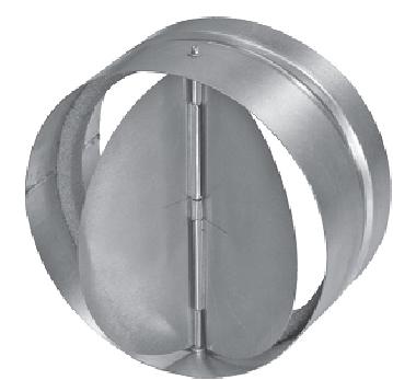 Обратный клапан круглого сечения